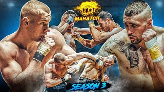Viking VS Chaklun. Outright fist fight. Boxer vs MMA. Hard knockouts. Bare knuckle fc / Makhach S3E7