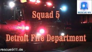 [Ride along] Squad 5 Detroit Fire Department
