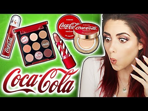 NEU! 💥 COCA COLA Make up Produkte im LIVE TEST! Full Face COCA COLA! Luisacrashion