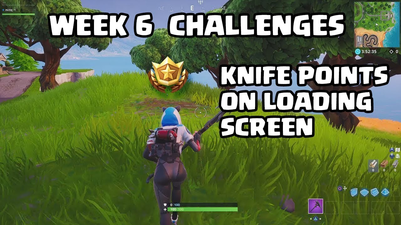 Fortnite Week 6 Challenges Search Where The Knife Points On The