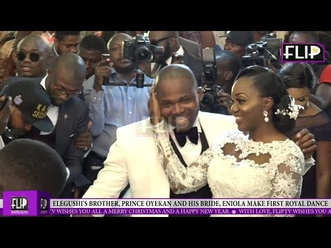 ELEGUSHI'S BROTHER, PRINCE OYEKAN AND HIS BRIDE, ENIOLA MAKE FIRST ROYAL DANCE