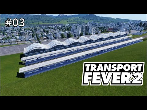 Lets Play Transport Fever 2 S01/E 03 Finished city, and started urban railroad line |