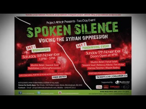 Spoken Silence   Syria Fundraising Weekend 16th & 17th November