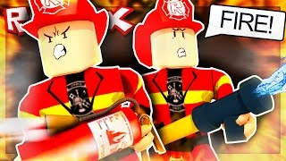 BECOMING A FIREFIGHTER IN ROBLOX!