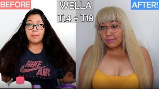 I DIY Bleach My Dark Hair To Blonde and Used Wella T14 and Wella T18! At Home...