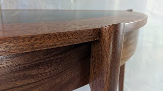 Building a Semi Elliptical table with a Gilded top and curvy legs - Woodworking