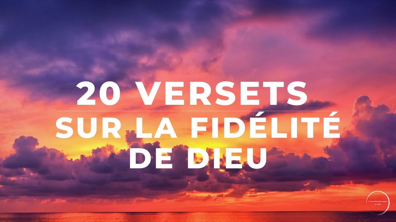 20 VERSETS SUR LA FIDÉLITÉ DE DIEU