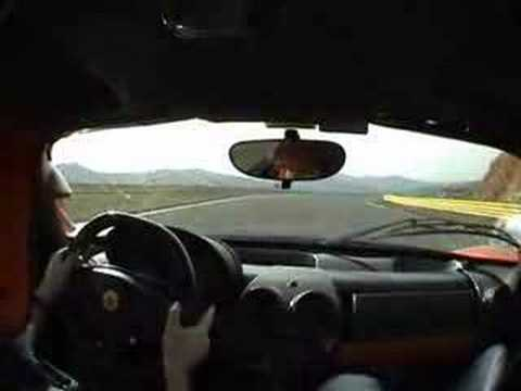 Ferrari Enzo on the track and drifting in the corners!!