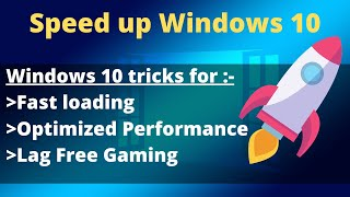 How to Speed up your Windows 10 Computer | Laptop and Optimize for Best Performance 2019