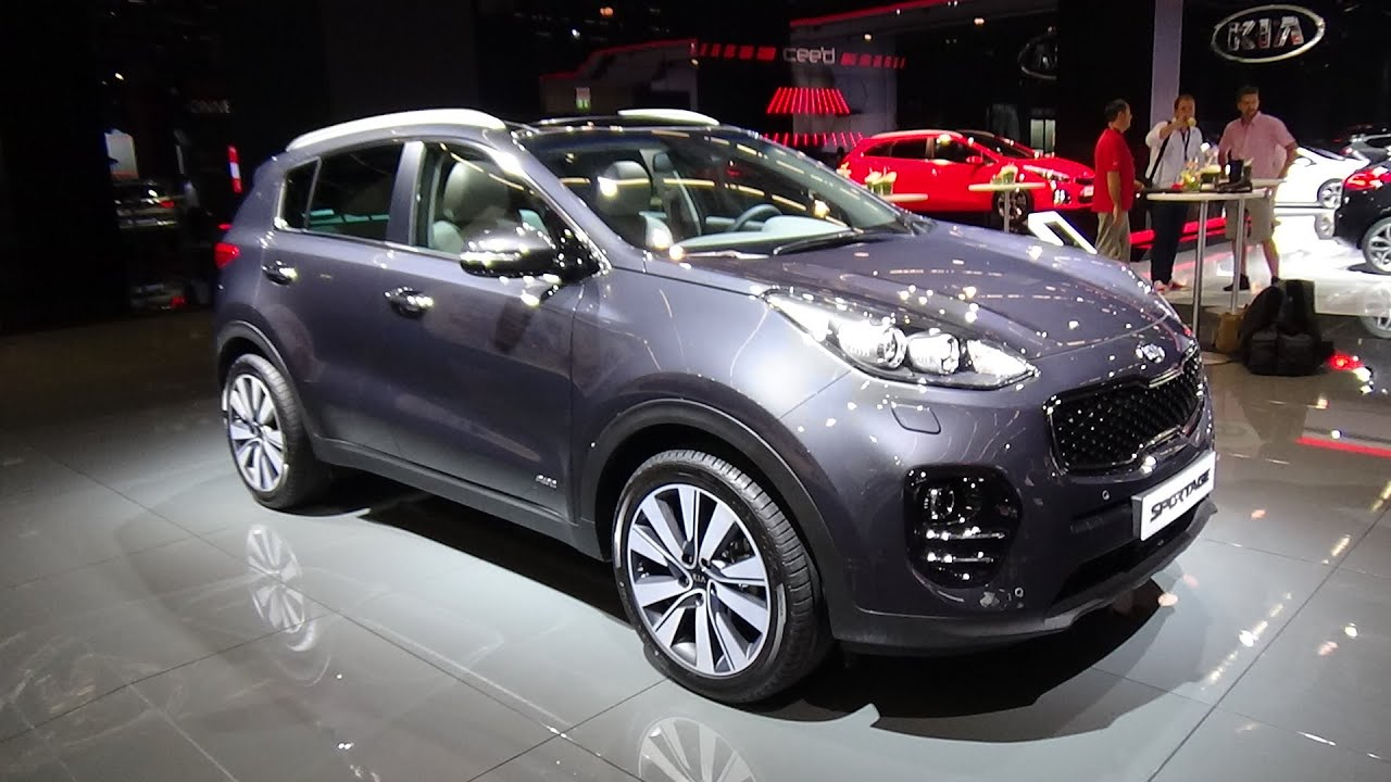 2016 kia sportage 2 0 crdi awd exterior and interior iaa frankfurt 2015 youtube. Black Bedroom Furniture Sets. Home Design Ideas