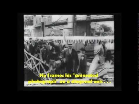 Débarquements des Congressistes à Neuville sur Saône Louis Lumière 1895