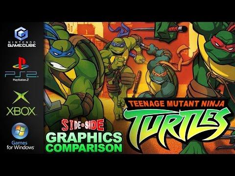 Teenage Mutant Ninja Turtles 2003 | Graphics Comparison | ( Gamecube , PS2 , Xbox , PC )