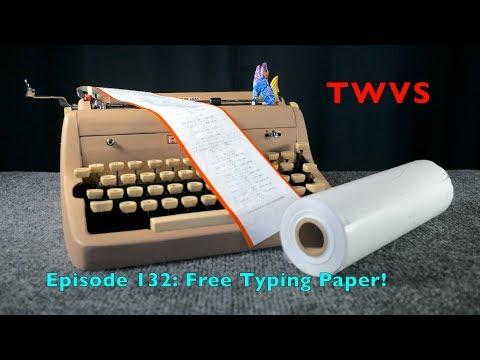 Typewriter Video Series - Episode 132: Free Typing Paper!