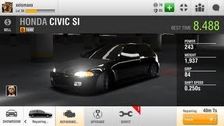Racing Rivals IOS Cars Honda Civic SI under 9s ?? Hack or bug?