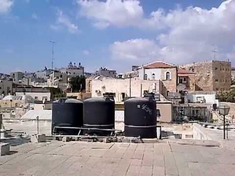 TOP OF JERUSALEM from The SWISS HOSTEL,  OLD CITY