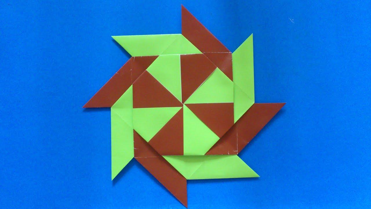 tutorial origami bintang ninja
