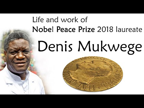 Nobel Peace Prize laureate 2018 Dr Denis Mukwege, Efforts to end sexual violence as a weapon in war