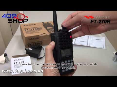 YAESU FT-270R VHF 136-174Mhz Handheld radio