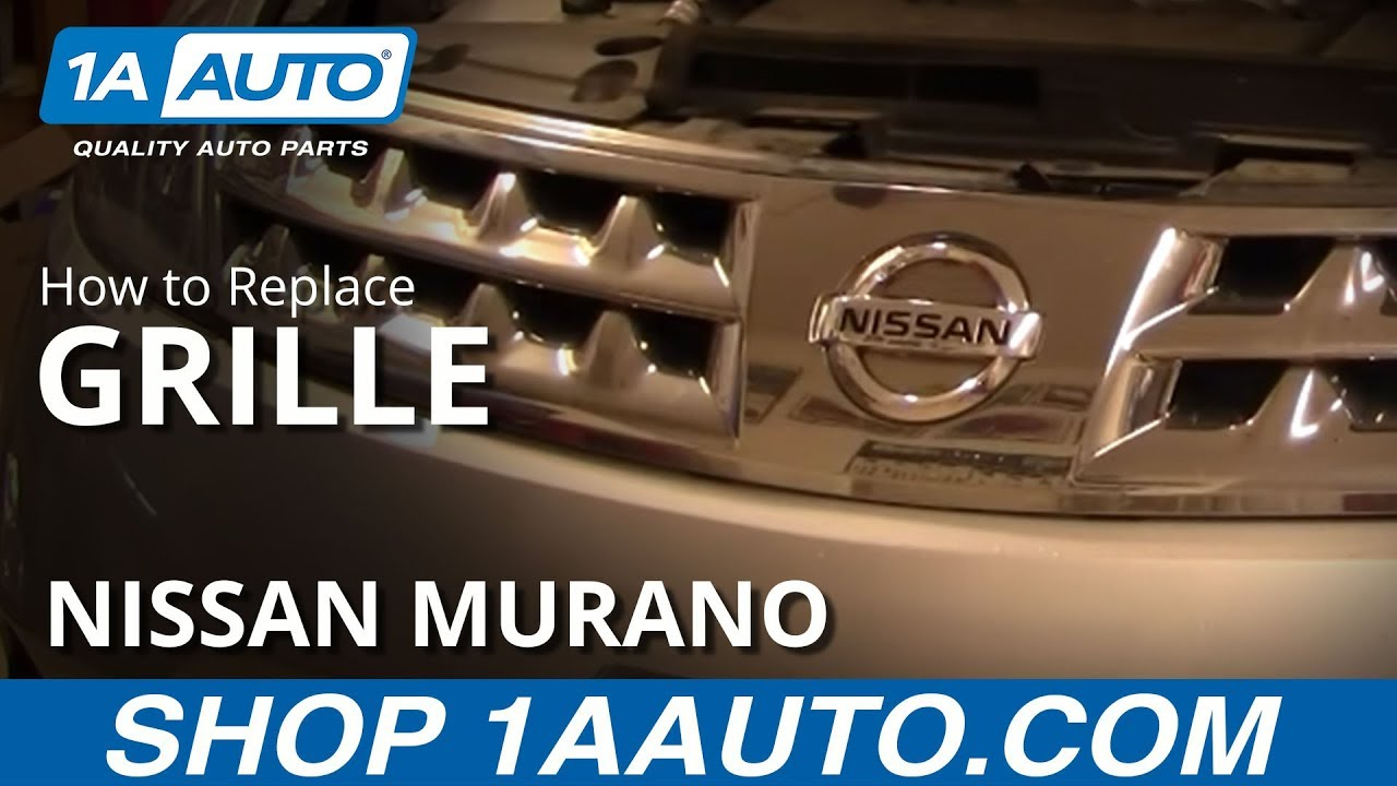 How To Replace Radiator Grille Nissan Murano 03 07 Youtube
