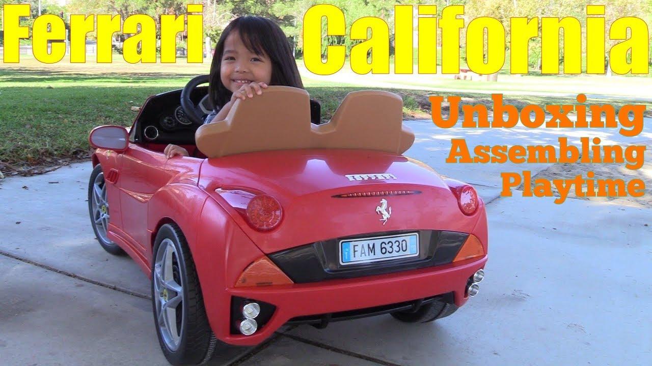 Ferrari Toy Car For Kids 12 Volts Ride On Power Wheels A Red California Sportscar