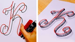 25 EASY DRAWING AND CALLIGRAPHY HACKS AND TRICKS