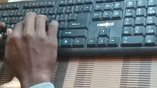 Typing test on typing master