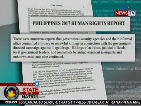 SONA: US State Dept., naglabas ng report kaugnay ng mga pagkukulang daw ng PHL sa human rights