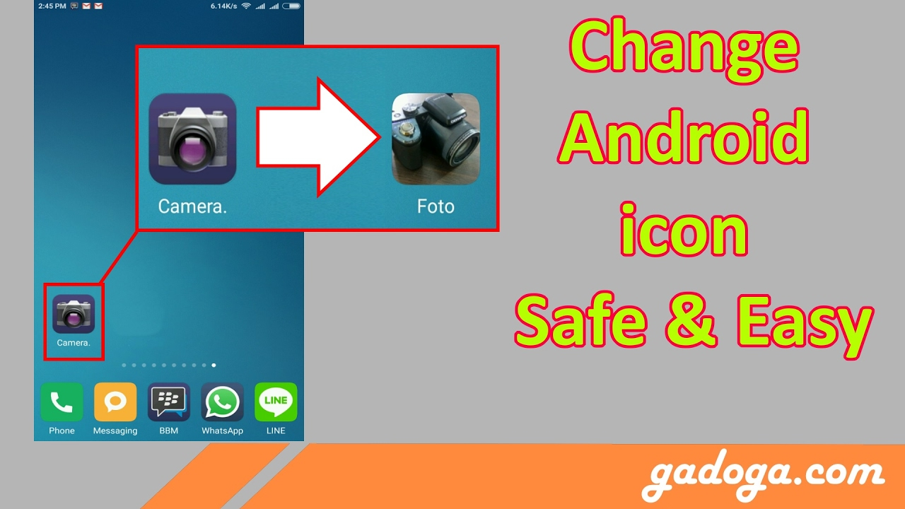 How to Change Android Icon Without root, Without Launcher, Without APK Editor