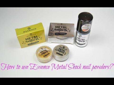 How to use Essence Metal Shock nail powders