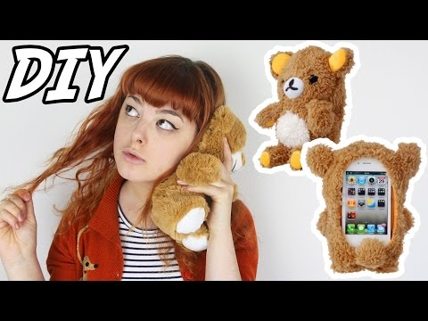 DIY Plush Bear Phone Case | Make Thrift Buy #23