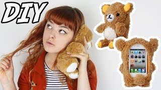 One of Annika Victoria's most viewed videos: DIY Plush Bear Phone Case | Make Thrift Buy #23