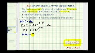 النمو المتسارع التطبيق (y=ab^t) - العثور على المبلغ الأولي بالنظر إلى مضاعفة الوقت