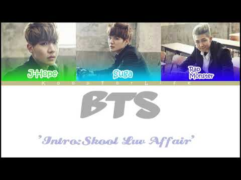 BTS 'Intro: Skool Luv Affair' Color Coded Lyrics