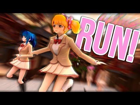 YANDERE ANIME GIRL RUN! | THOSE GRAPHICS!