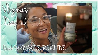QUICK SKIN CARE ROUTINE| VLOGMAS DAY 10 | STRAIGHT OUT THE FRIDGE
