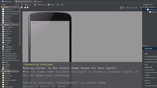 Solution Android Studio Rendering Problems