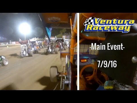 California Lightning Sprint at Ventura Raceway -Main Event- 7/9/16