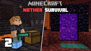 Minecraft: DIAMONDS! In the Nether - 1.16 Nether Survival Let's play | Ep 2