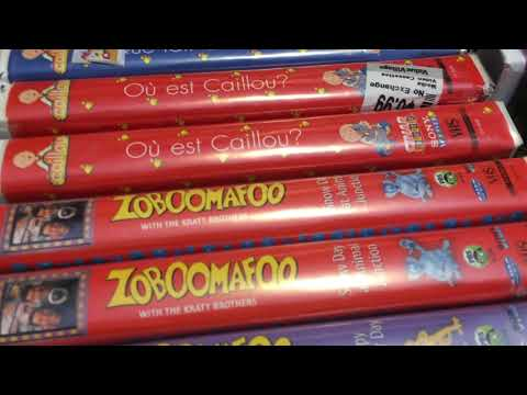 My Caillou/Zoboomafoo/Bananas In Pajamas/Richard Scary VHS/DVD Collection