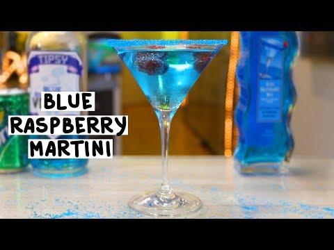Blue Raspberry Martini