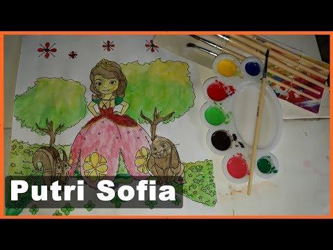 Mewarnai Sofia Putri Duyung Dengan Cat Air Sofia The First Edukasi