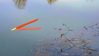ЗАКИНУЛ УДОЧКУ в КУСТЫ ПОПЛАВОК ПРЁТ КАРАСЬ Рыбалка весной 2020