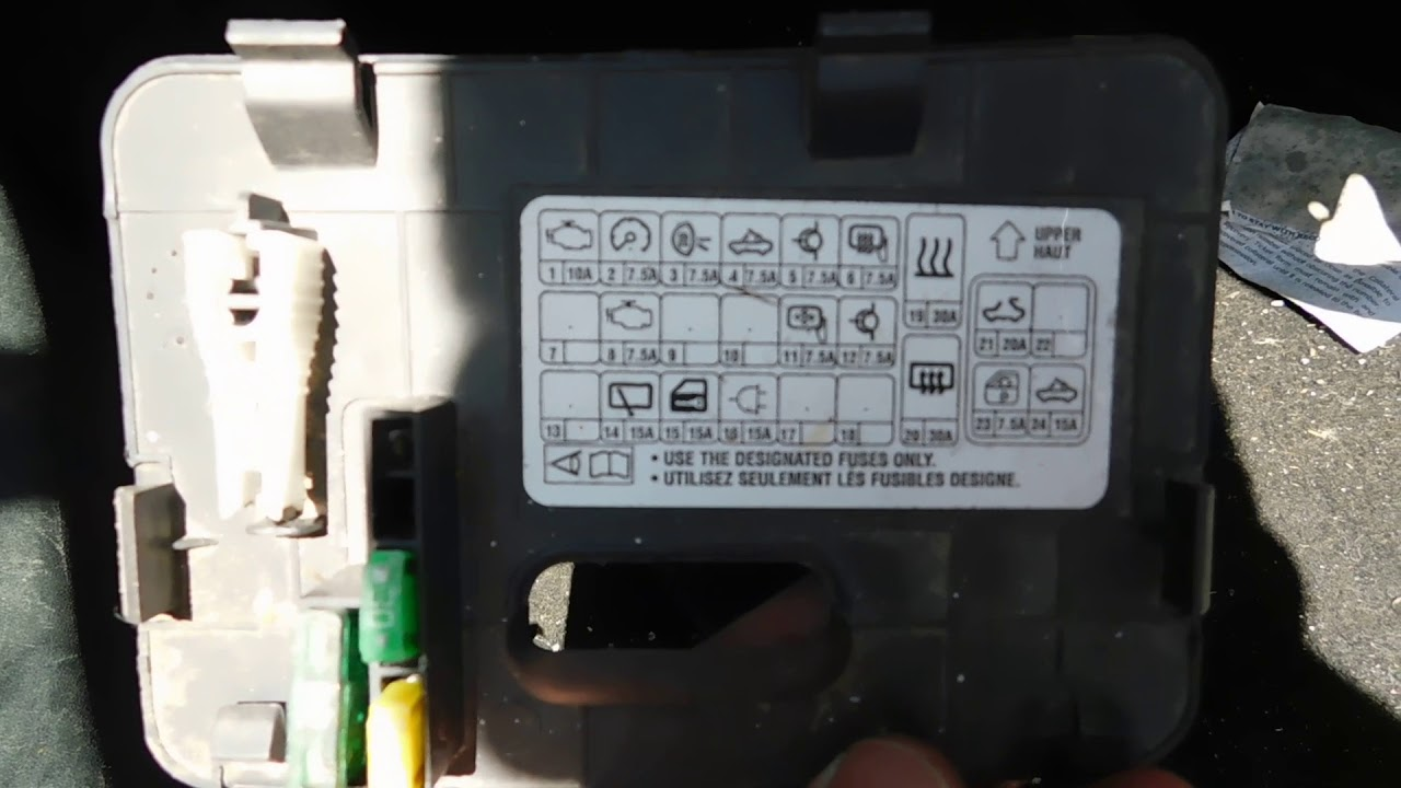 mitsubishi eclipse fuse box location and diagram [ 1280 x 720 Pixel ]
