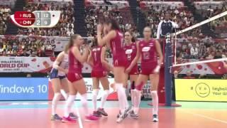 重温经典:2015世界杯中国女排3 1俄罗斯赢下关键一役