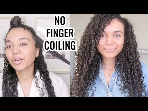 DEFINED LONG Curly Hair Routine NO Finger Coiling
