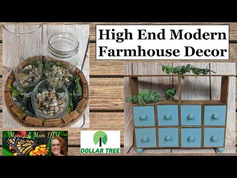 DOLLAR TREE DIY HIGH END MODERN FARMHOUSE DECOR | CRAFT YOUR STASH #dollartreediy