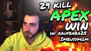 29 Kill Apex Win w/ Imbusymom, RaufBaba25