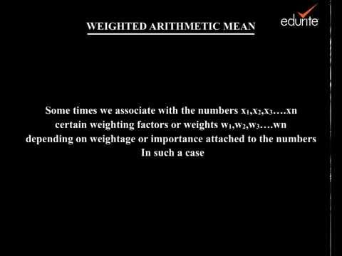 Weighted Arithmetic Mean