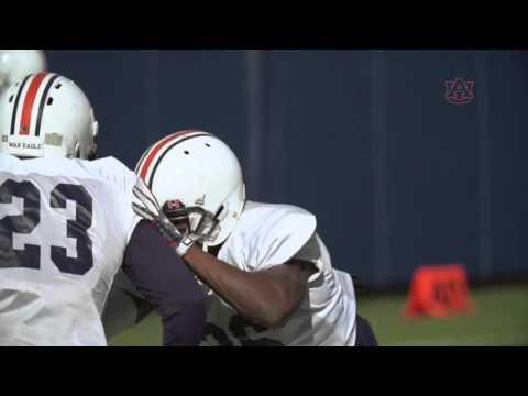 Auburn Football Spring Practice: Wesley McGriff Mic