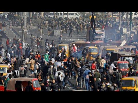 العراق: إصابات خطيرة في صفوف المتظاهرين مع ارتفاع حدة الاحتجاجات بعد انتهاء -مهلة الوطن-  - 14:00-2020 / 1 / 20
